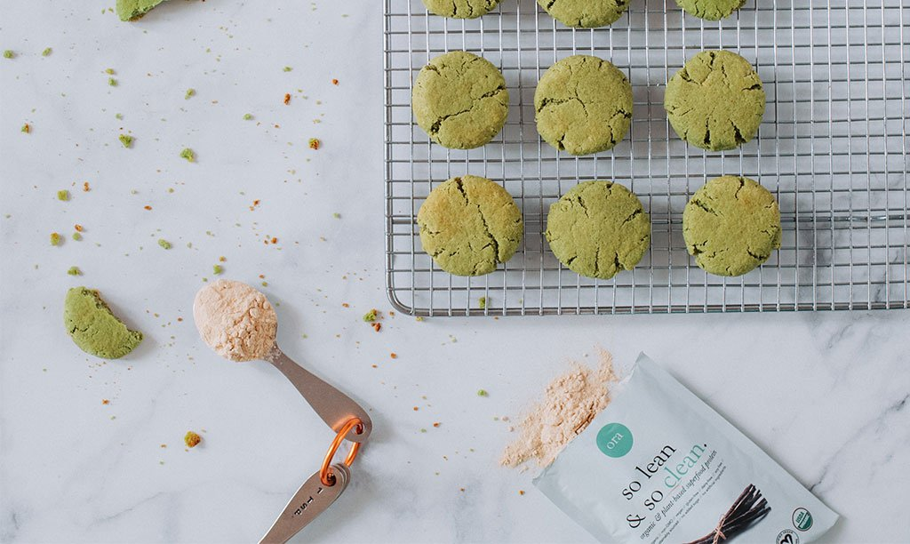 Protein Matcha Cookies